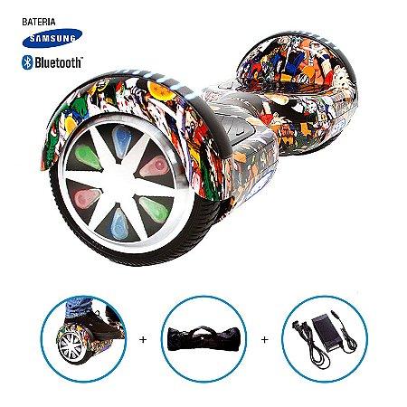 """Hoverboard 6,5"""" Dragon Ball Z HoverboardX Bateria Samsung e Bluetooth Smart Balance Com Bolsa"""