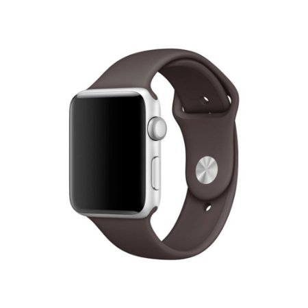 Pulseira Silicone Esportiva Para Apple Watch 42mm Marrom