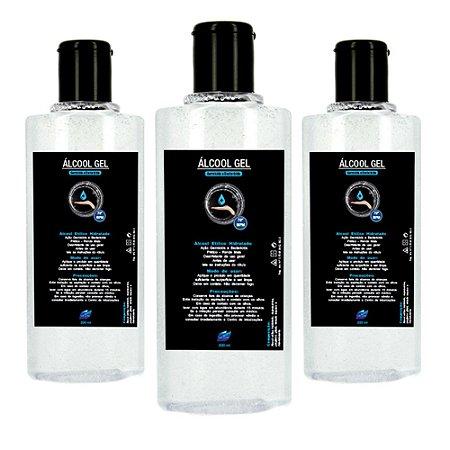 Kit 3 Álcool Gel Higienizador De Mãos Vie Luxe 70 INPM 200ml