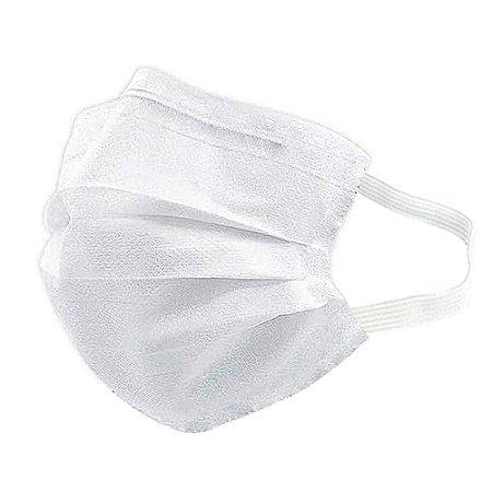 Máscara Descartável Para Higiene E Proteção De Rosto Com Elástico Reforçado Clip Nasal MaskMedic