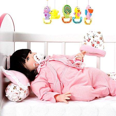 Boneca Bebê Reborn Meu Xodo Menina Realista com 16 Acessórios