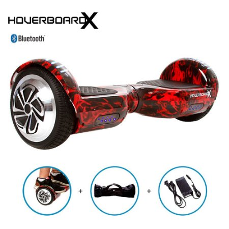 Hoverboard Skate Elétrico 6,5 Red Fire Barato Bluetooth Led