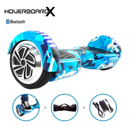 Hoverboard Skate Elétrico 6,5 Azul Militar Barato Bluetooth