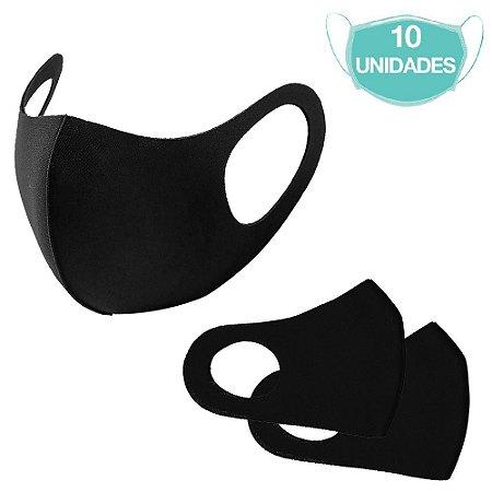 10 Máscaras Laváveis Reutilizável Preta Cuidado Pessoal