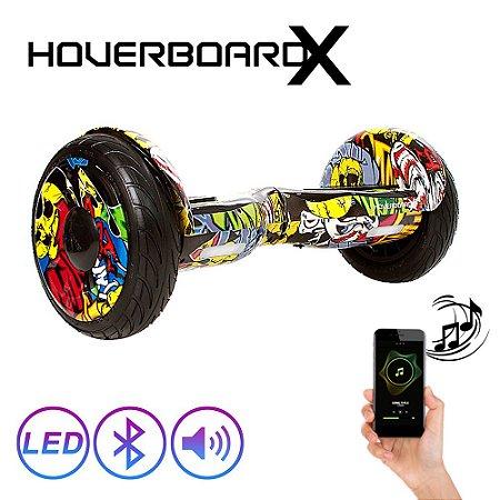 """Hoverboard Skate Elétrico 10"""" Hip Hop Barato Led Bluetooth"""