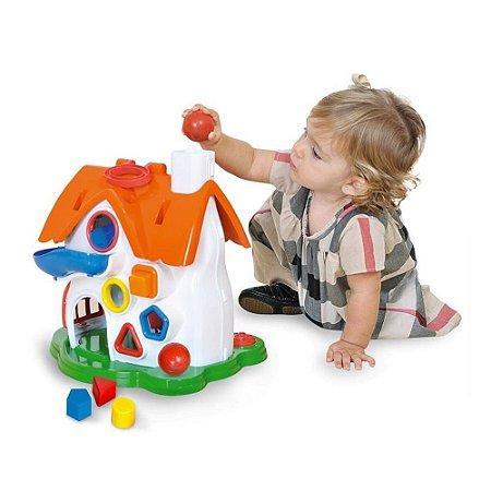 Brinquedo Infantil Casinha Divertida Play Time Cotiplás 1998