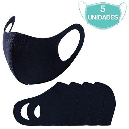 5 Máscara Laváveis Reutilizável Azul Marinho Cuidado Pessoal