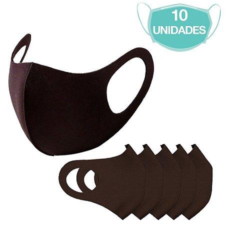 10 Máscaras Laváveis Reutilizável Marrom Cuidado Pessoal