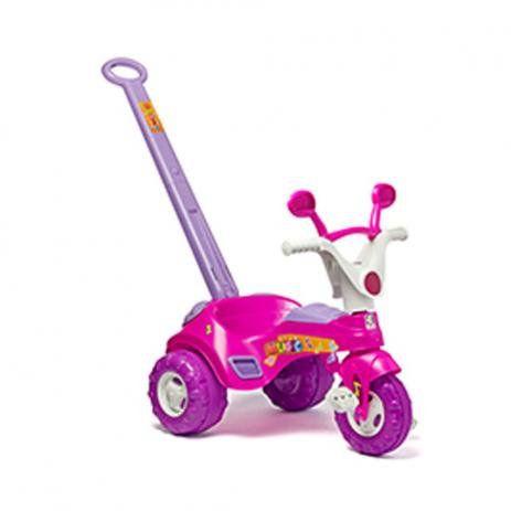 Brinquedo Infantil Triciclo Baby Rosa Cotiplás Com Som 1802