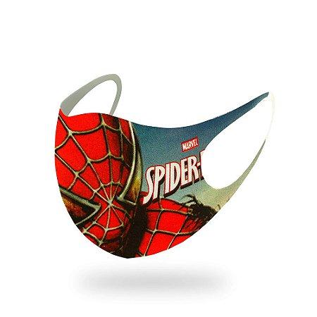 1 Máscara Lavável Infantil Marvel Homem Aranha Neoprene