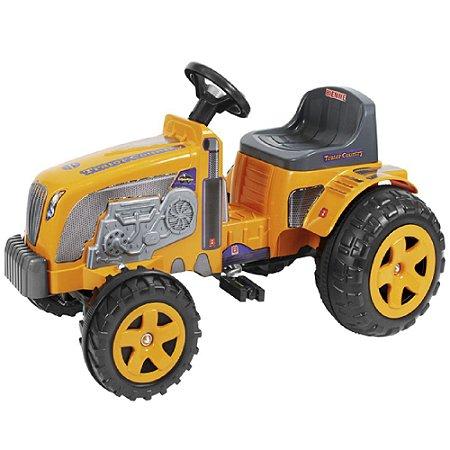 Trator Fazendeiro Amarelo Com Caçamba De Pedal - Biemme