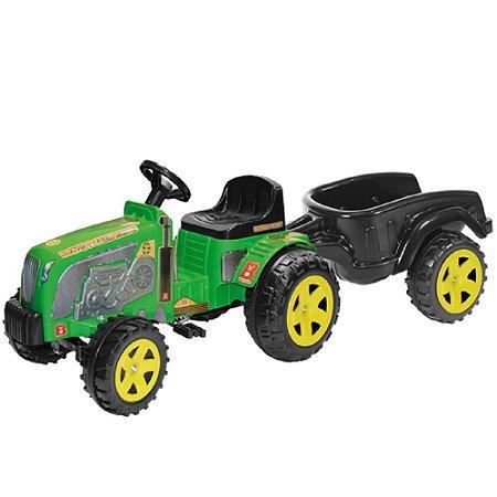 Trator Fazendeiro Verde Com Caçamba De Pedal - Biemme