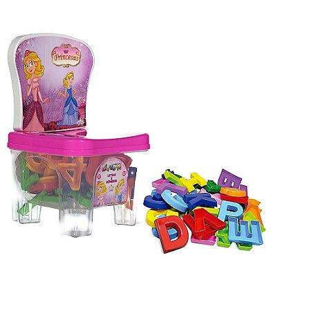 Brinquedo Infantil Kidverte de Princesas Letras e Números