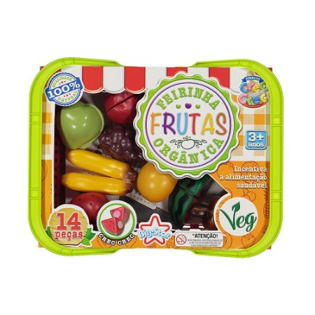 Brinquedo Kit Cesta Feirinha De Frutas Orgânicas Big Star