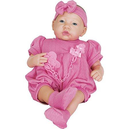 Boneca Menina Bebê Reborn Infantil Coleção Ninos Pesadinho