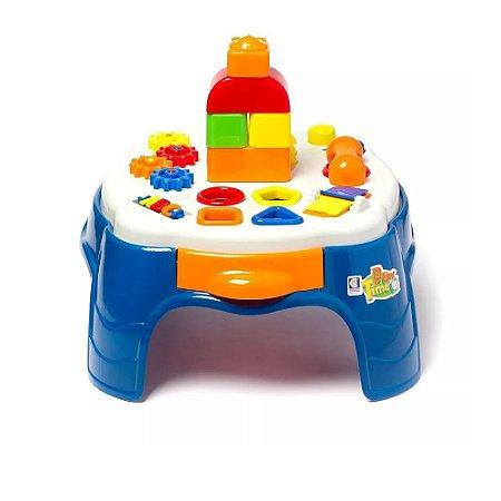 Brinquedo Infantil Mesa Didática Azul Menino 1950 Cotiplás
