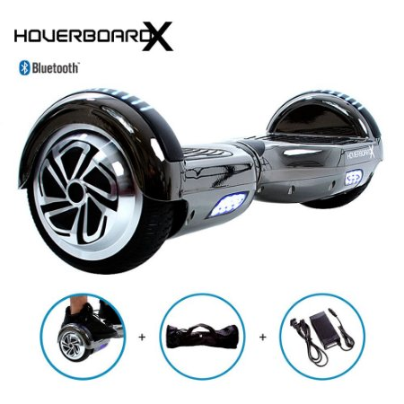 Hoverboard Skate 6,5 Cinza Chrome HoverboardX com Bluetooth