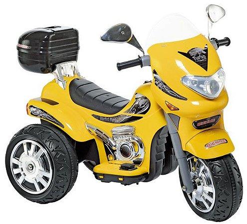 Moto Elétrica Sprint Turbo Amarelo Brinquedo Infantil 12V