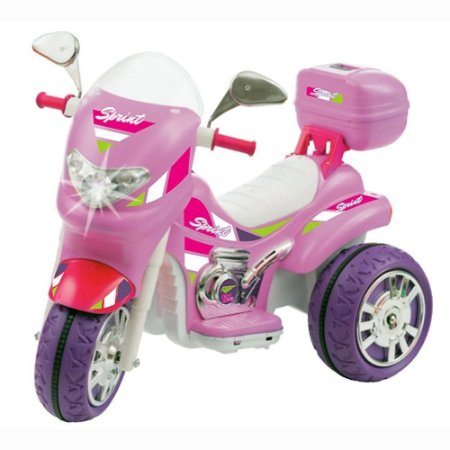 Moto Elétrica Sprint Turbo Pink Brinquedo Infantil 12V