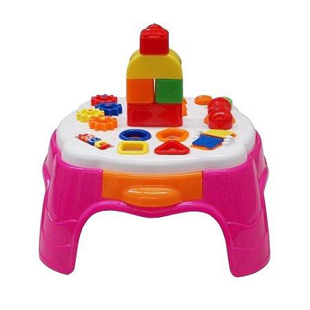 Brinquedo Infantil Mesa Didática Rosa Menina 2049 Cotiplás