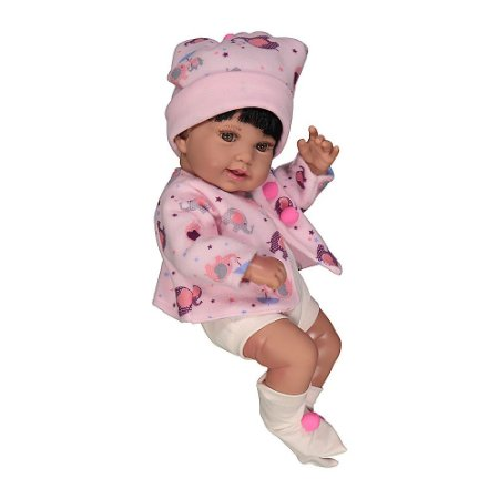 Bebê Reborn Anny Doll Baby Menina Cotiplás 2441