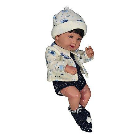 Bebê Reborn Realista Anny Doll Baby Menino Cotiplás 2440