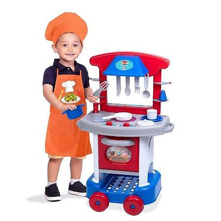 Mini Cozinha Infantil Play Time Altura Menino Cotiplás 2421