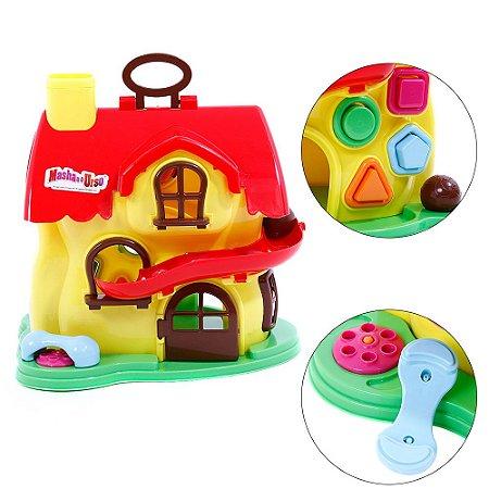 Brinquedo Infantil Casa de Atividades Masha e o Urso 2401