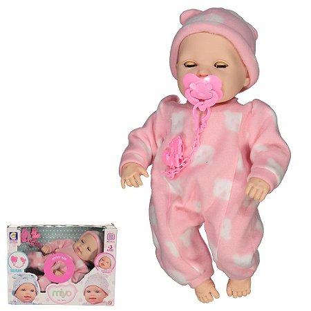 Boneca Miyo Menina Com Sons De Bebê Cotiplás 2391