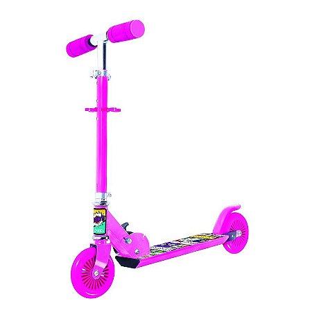 Brinquedo Infantil Patinete Radical Scooter Bel Fix Rosa