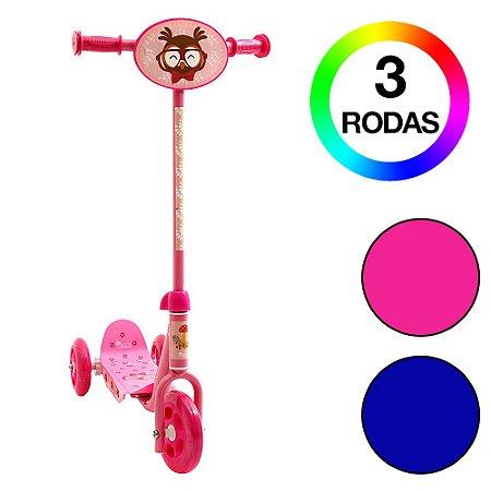 Brinquedo Infantil Patinete 3 Rodas Groovy Rosa Bel Fix