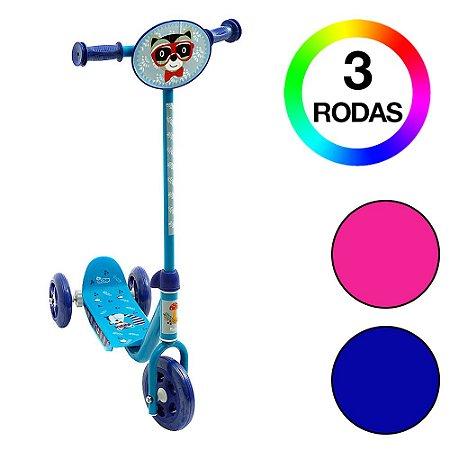 Brinquedo Infantil Patinete 3 Rodas Groovy Azul Bel Fix