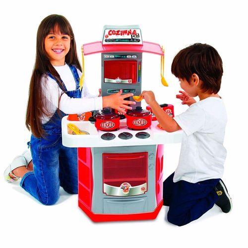 Brinquedo Infantil Cozinha 4.0 Pia Sai Água e Fogão BigStar