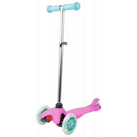Patinete Infantil de 3 Rodas com Led na Roda Rosa E Azul BBR