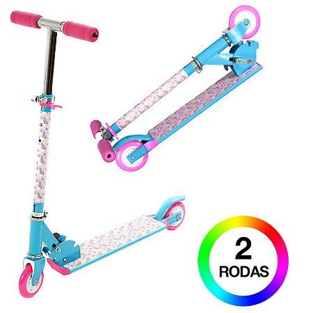 Patinete Infantil Azul e Rosa BBR Toys
