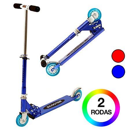 Patinete Duas Rodas Infantil DM Radical Azul DMR4454
