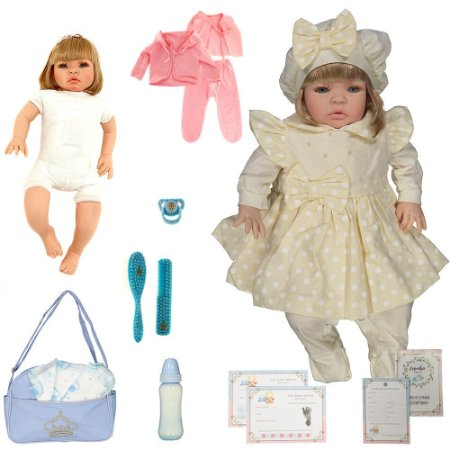 Boneca Bebe Reborn Balone Caqui Cegonha Reborn Dolls