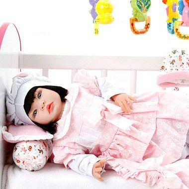 Boneca Bebe Reborn Monalisa Floral Cegonha Reborn Dolls