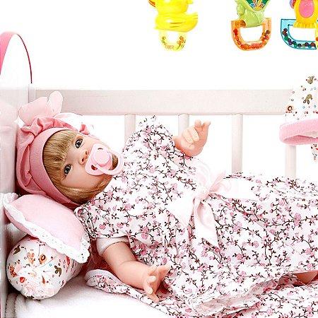 Boneca Bebe Reborn Floral Millie Cegonha Reborn Dolls