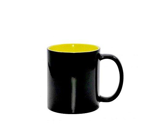 Caneca Magica Brilho Interior Amarelo 325ML