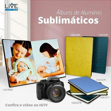 ÁLBUM DE FOTOGRAFIA 15X20 FOTOS EM ALUMÍNIO SUBLIMÁTICO liveSub