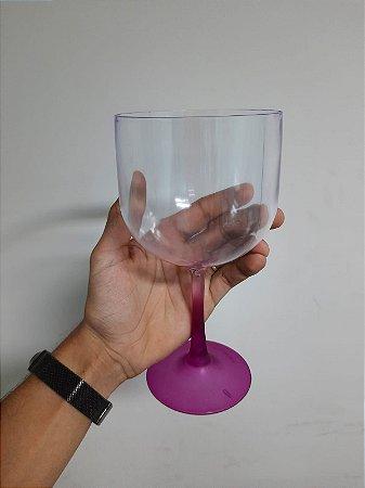 Taça Gin Cristal Base Lilás
