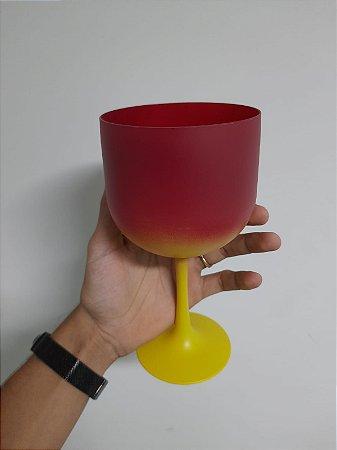 Taça Gin Bi-Color Vermelho + Amarelo