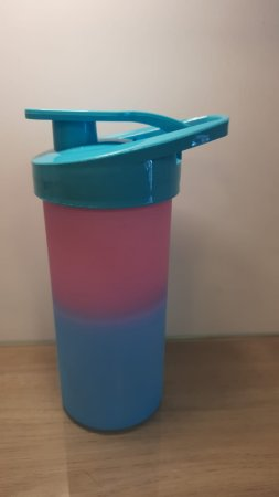 Squeeze Plastico Degrad Tampa Azul 500ml - Transfer Laser