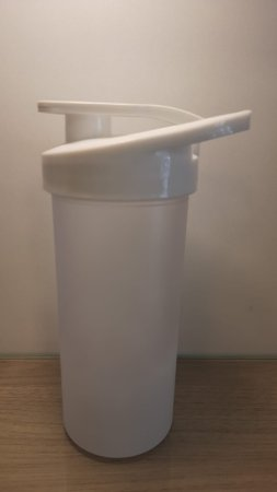 Squeeze Plastico Degrad Tampa Branco 500ml - Transfer Laser