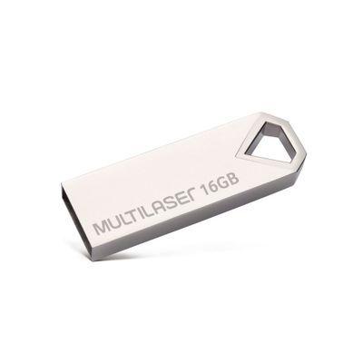 Pen drive Multilaser Diamond 16GB USB 2.0 Metálico