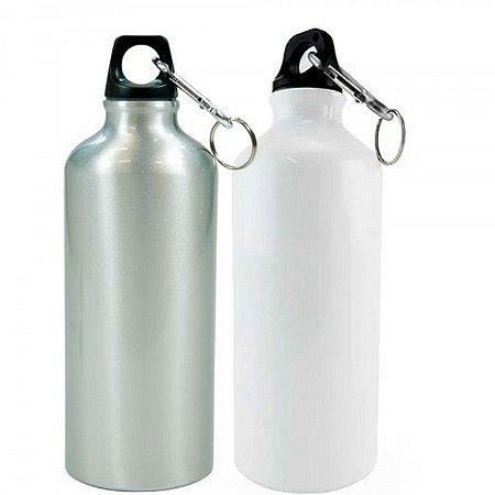 10 Squeezes Alumínio Branco ou Prata Mosquetão 600ml