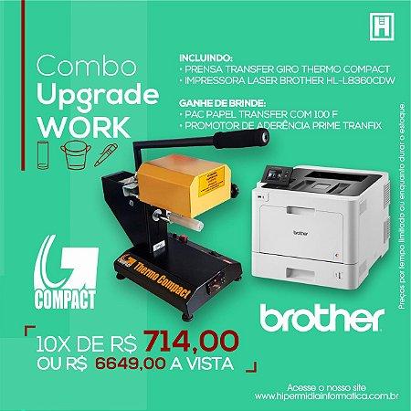 Kit Combo Prensa Giro Thermo Compact + Impressora Brother Laser Color + Brinde