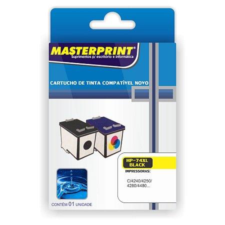 Cartucho Masterprint 74 XL Preto