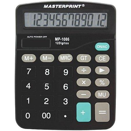 CALCULADORA MASTERPRINT MP1086 12 DÍGITOS